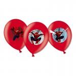 Ballons de baudruche anniversaire : 6 ballons Spiderman