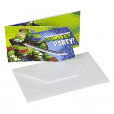 Cartes d'invitation anniversaire Tortues Ninja