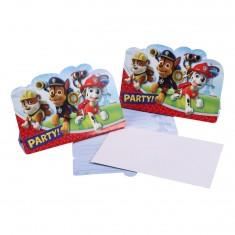 Cartons d'invitation x 8 : Pat'Patrouille (Paw patrol)