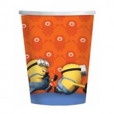 Goblets en carton Minion x8