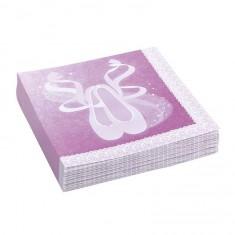 Serviettes en papier anniversaire : 20 serviettes danseuse