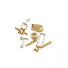 Accessoire pour maquette de bateau en bois : Galoche métallique 4,5 mm x 4