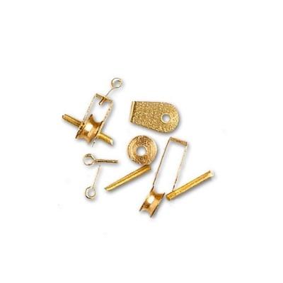 Accessoire pour maquette de bateau en bois : Galoche métallique 4,5 mm x 4 - Artesania-8652