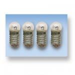 Accessoires pour maison de poupées : Eclairage : 4 mini ampoules