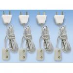 Accessoires pour maison de poupées : Eclairage : 4 prise et connexions