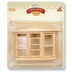 Accessoires pour maison de poupées : Portes et fenêtres : Fenêtre anglaise