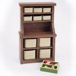 Accessoires pour maison de poupées : Mobilier et accessoires : Armoire de rangement