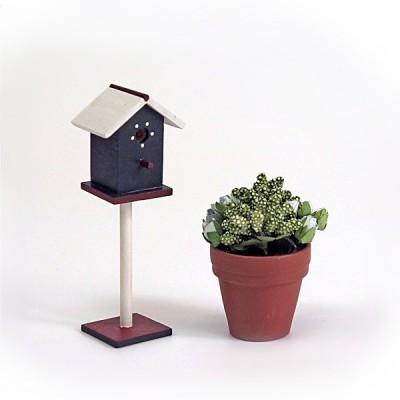 Accessoires pour maison de poupées : Mobilier et accessoires : Cage à oiseaux et plante - Artesania-11227