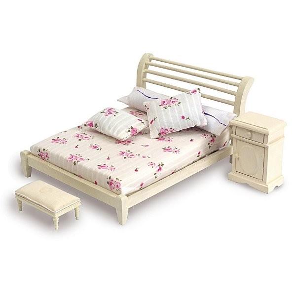 accessoires pour maison de poup es mobilier et accessoires lit double jeux et jouets. Black Bedroom Furniture Sets. Home Design Ideas