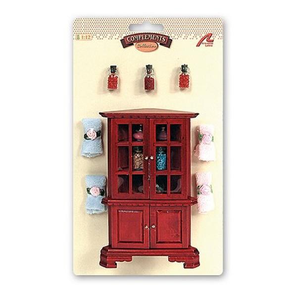 accessoires pour maison de poup es mobilier et accessoires salle de bain jeux et jouets. Black Bedroom Furniture Sets. Home Design Ideas