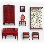 Accessoires pour maison de poupées : Mobilier pièce par pièce : Chambre à coucher 1 personne