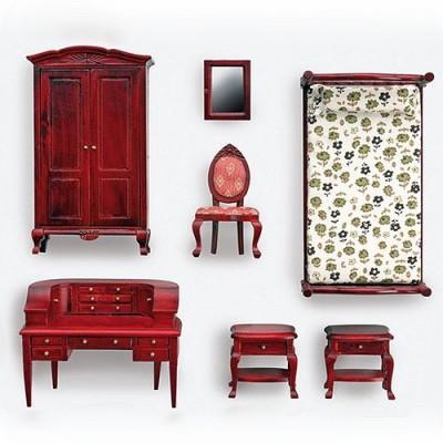 Accessoires pour maison de poupées : Mobilier pièce par pièce : Chambre à coucher 1 personne - Artesania-10885