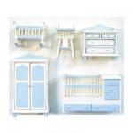 Accessoires pour maison de poupées : Mobilier pièce par pièce : Chambre de bébé