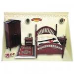 Accessoires pour maison de poupées : Mobilier pièce par pièce : Chambre