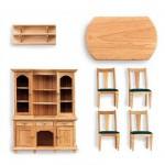 Accessoires pour maison de poupées : Mobilier pièce par pièce : Salon en pin
