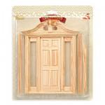 Accessoires pour maison de poupées : Portes et fenêtres : Porte complète avec encadrement et vitre