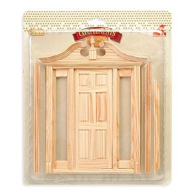 Accessoires pour maison de poupées : Portes et fenêtres : Porte complète avec encadrement et vitre - Artesania-99846
