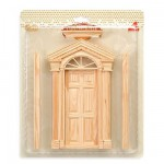 Accessoires pour maison de poupées : Portes et fenêtres : Porte encastrée avec chapiteau