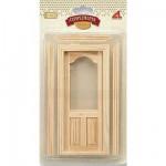 Accessoires pour maison de poupées : Portes et fenêtres : Porte vitrée et cadre