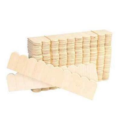 Accessoires pour maison de poup es tuiles en bois for Maison miniature en bois