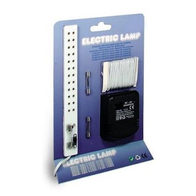 Accessoires pour maison de poupées : Eclairage: Transformateur, rallonge 12 prises, câble électrique - Artesania-12816
