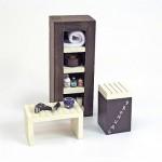 Accessoires pour maison de poupées : Mobilier et accessoires : Meubles de salle d'eau