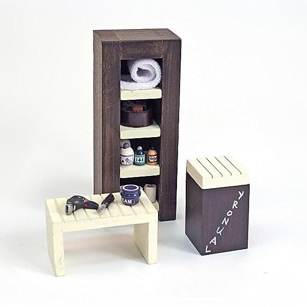 accessoires pour maison de poup es mobilier et accessoires meubles de salle d 39 eau jeux et. Black Bedroom Furniture Sets. Home Design Ideas