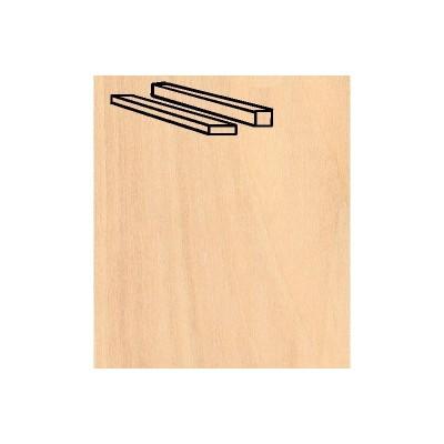 Baguettes de placage en bois x 25 : Bouleau 914 x 1 x 2 mm - Artesania-91112