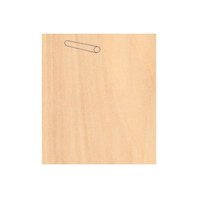 Baguettes de placage en bois x 25 : Bouleau 914 x Ø12 mm - Artesania-94112
