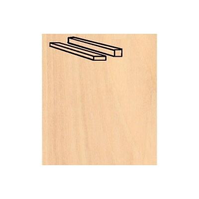 Baguettes de placage en bois x 25 : Bouleau 914 x 1.5 x 4 mm - Artesania-91194