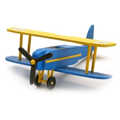 Maquette avion : Mon premier kit en bois : Biplan - Artesania-30512