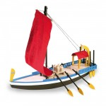 Maquette bateau en bois : Bateau égyptien de Cléopâtre