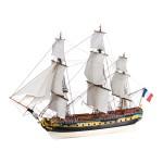Maquette bateau en bois : L'Hermione La Fayette