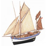 Maquette bateau en bois : Marie Jeanne