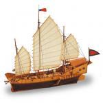 Maquette bateau en bois : Red Dragon Jonque Chinoise