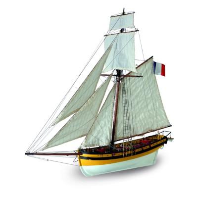 Maquette en bois : Cotre corsaire Le Renard - Artesania-22401