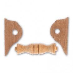 Accessoire pour maquette de bateau en bois : Cabestan en bois horizontal 32 mm