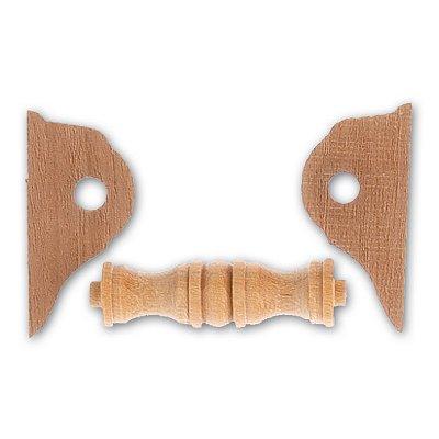 Accessoire pour maquette de bateau en bois : Cabestan en bois horizontal 32 mm - Artesania-8577