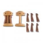 Accessoire pour maquette de bateau en bois : Cabestan vertical et vertugadins en bois ø 15 mm