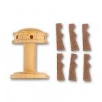 Accessoire pour maquette de bateau en bois : Cabestan vertical et vertugadins en bois ø 20 mm