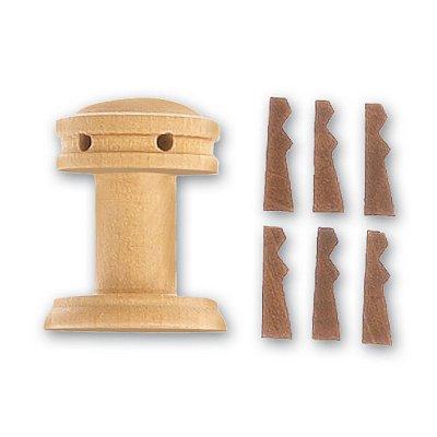 Accessoire pour maquette de bateau en bois : Cabestan vertical et vertugadins en bois ø 25 mm - Artesania-8582