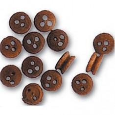 Accessoire pour maquette de bateau en bois : Cap de mouton ø 3.5 mm : Nogal