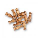 Accessoire pour maquette de bateau en bois : Colonne 8 mm : Nogal