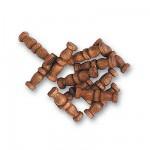 Accessoire pour maquette de bateau en bois : Double colonne 10 mm : Nogal