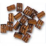 Accessoire pour maquette de bateau en bois : Double poulie 3 mm : Nogal