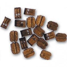 Accessoire pour maquette de bateau en bois : Double poulie 4 mm : Nogal