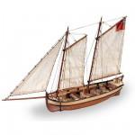 Maquette bateau en bois : Endeavour's Longboat