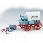 Maquette en bois et métal: Collection Heritage : Chariot du 7e de cavalerie