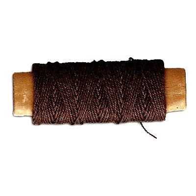 Accessoire pour maquette de bateau en bois : Fil de coton marron ø 0,50 mm : 10 mètres - Artesania-8807