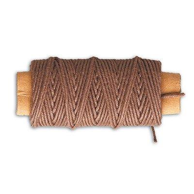 Accessoire pour maquette de bateau en bois : Fil de coton marron ø 0,80 mm : 10 mètres - Artesania-8808